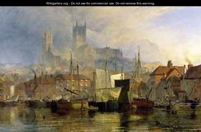 Lincoln Cathedral from the Brayford Pool - Henry Thomas Dawson