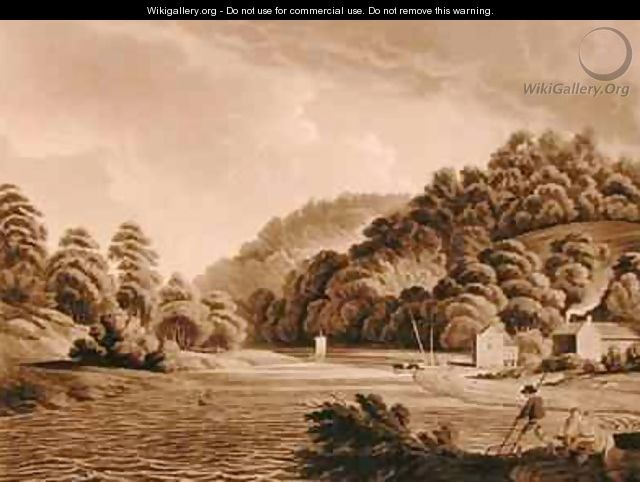 View at Redbrook in the River Wye - (after) Dayes, Edward