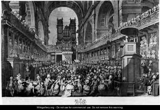 Thanksgiving at St Pauls for George IIIs 1738-1820 Recovery from Illness - (after) Dayes, Edward