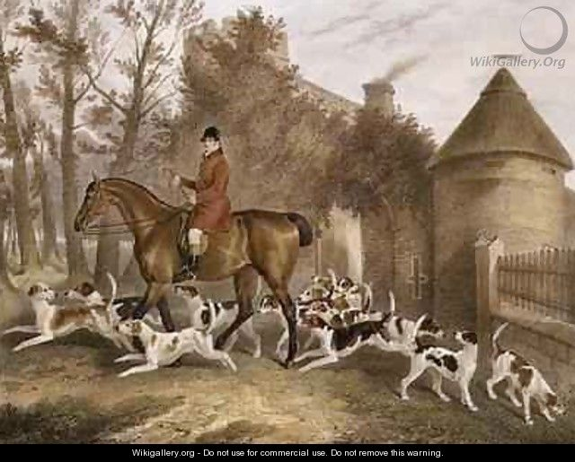 W Sebright Huntsman to the Milton Hounds - Richard Barrett Davis