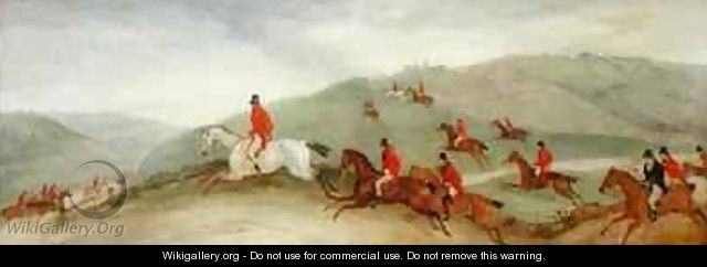 Foxhunting Road Riders or Funkers - Richard Barrett Davis