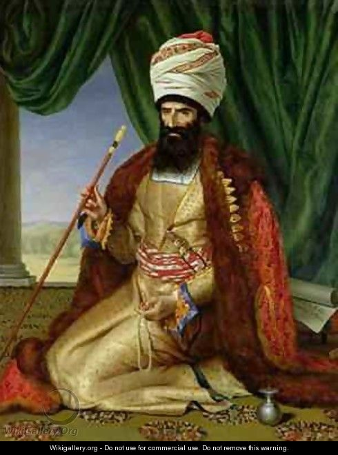 Portrait of Asker Khan Ambassador of Persia in Paris in 1808 - Cesarine (nee Mirvault) Davin