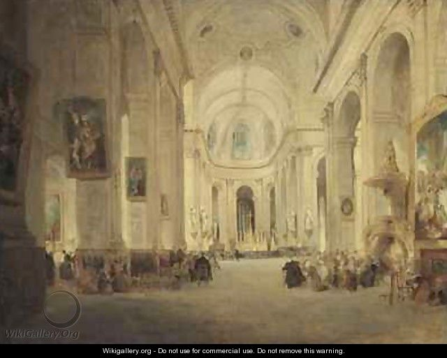 Interior of St Sulpice Paris - John Scarlett Davis