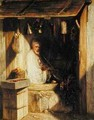 Turkish Merchant Smoking in his Shop - Alexandre Gabriel Decamps