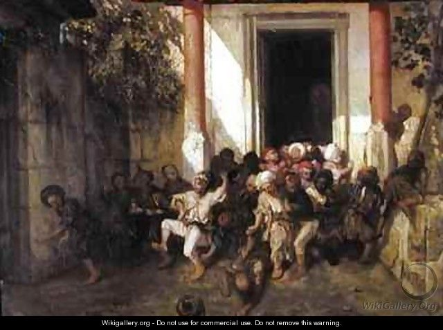 Leaving the Turkish School - Alexandre Gabriel Decamps