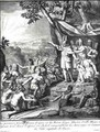 Manco Capac and his wife Coya Mama Oello Huaco gathering the savages and building Cuzco - (after) Debrie, Gabriel Francois Louis