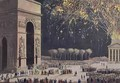 View of the Arc de Triomphe with Fireworks - Philibert-Louis Debucourt