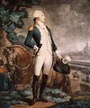 Portrait of the Marquis de La Fayette 1757-1834 commander of the National Guard - Philibert-Louis Debucourt