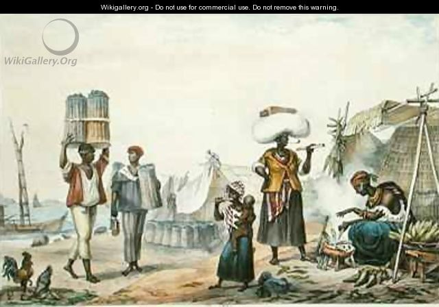 Negroes Selling Coal and Maize - (after) Debret, Jean Baptiste