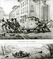 Negroes with a Cart and a Brazilian boat made from leather - (after) Debret, Jean Baptiste