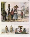 The Iron Collar Negroes Working in the Rain and Carrying Tiles three illustrations from Voyage Pittoresque et Historique au Bresil - Jean Baptiste Debret
