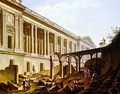 Demolition of the Hotel de Bourbon and clearing the Louvre Colonnade - Pierre-Antoine Demachy