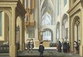 Elegant Figures in Church - Dirck Van Delen