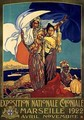Poster advertising the Exposition Nationale Coloniale - Davide Dellepiane