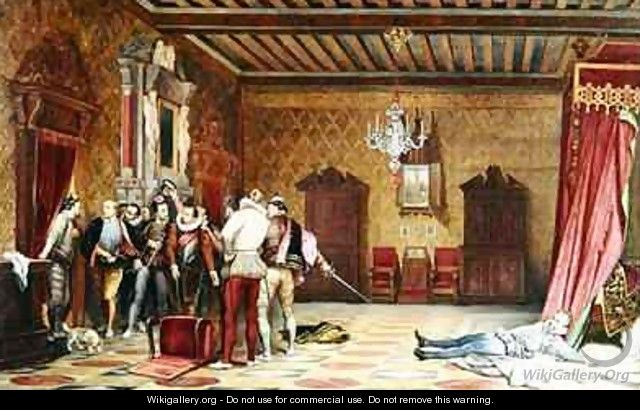 The Assassination of Henri de Lorraine 1549-88 duc de Guise - Hippolyte (Paul) Delaroche