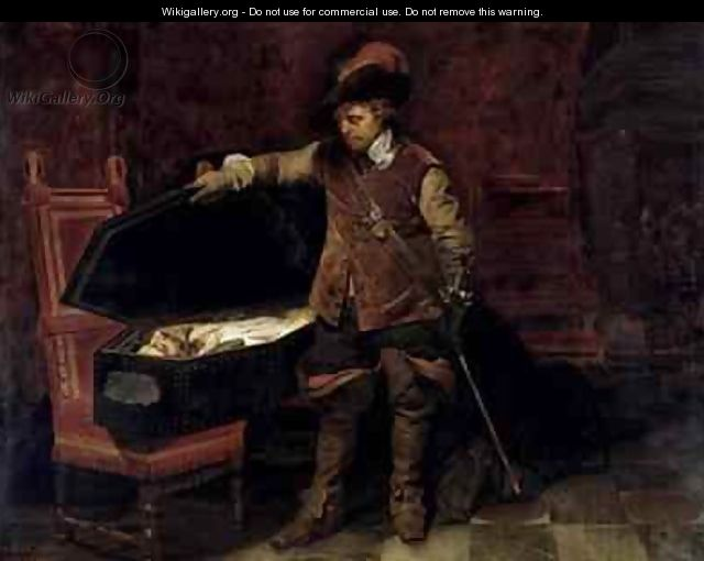 Oliver Cromwell 1599-1658 Opening the Coffin of Charles I 1600-49 - Hippolyte (Paul) Delaroche