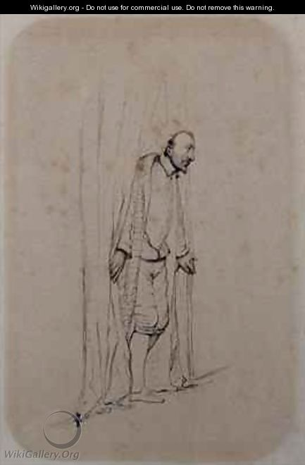 Study for The Assassination of the Duc de Guise - Hippolyte (Paul) Delaroche