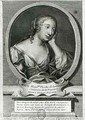 Medallion portrait of Madame de La Fayette French novelist - Etienne Jehandier Desrochers