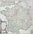 Map of France as Divided into 58 Provinces - Louis-Charles Desnos