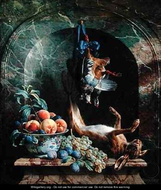 Still Life with Dead Game in a Marble Niche - Alexandre-Francois Desportes