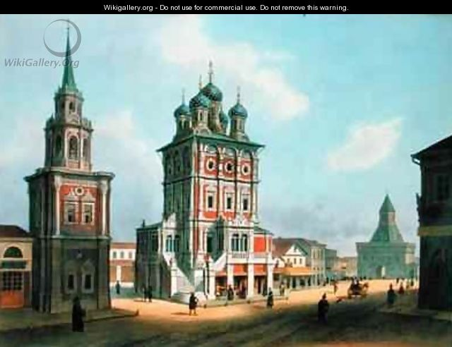 St Nicolas Church at Ilynka Street in Moscow - Isodore Laurent Deroy