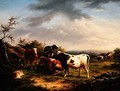Cattle and Sheep in a Landscape 2 - Charles Desan