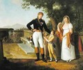 General Rossetti 1776-1840 Commandant of Naples and his Family - Guillaume Descamps
