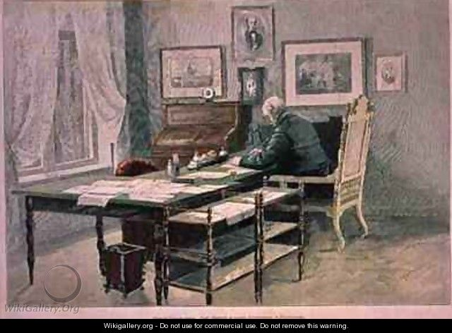 Prince Bismarck in his study at Friedrichsruh - Henriette Deppermann