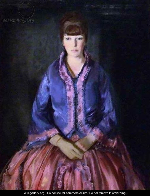 Emma in the Purple Dress - George Wesley Bellows