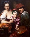 The Artist and his Family - Johann Kupezky or Kupetzky