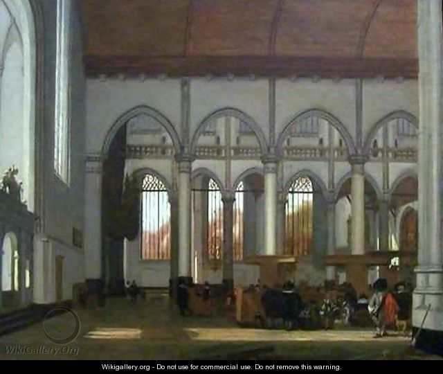 Interior of the Oude Kerk - Emanuel de Witte