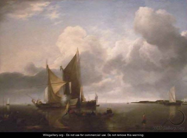 Ships in a Calm - Jan Van De Capelle
