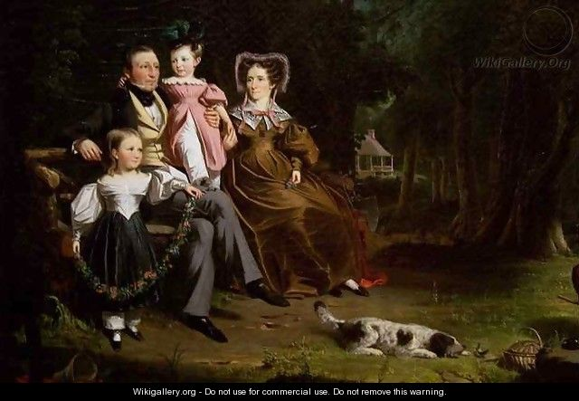 Alexander Masterton and His Wife and Children detail - William Hamilton