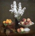White Rockets and Fruit - Ignace Henri Jean Fantin-Latour