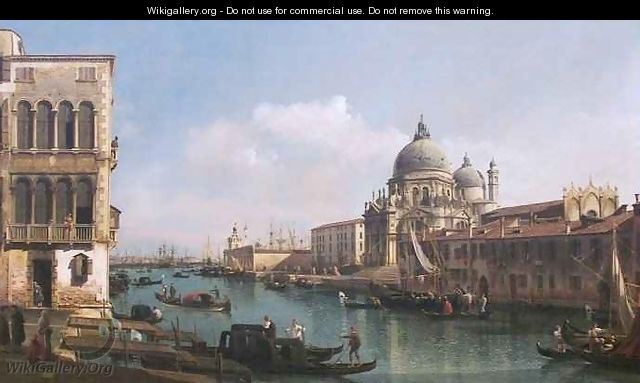 View of the Grand Canal and the Dogana - Bernardo Bellotto (Canaletto)