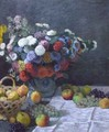 Still Life with Flowers and Fruit - Claude Oscar Monet