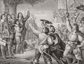 Charles I 1600-49 erecting his standard at Nottingham in the opening scene of the Great Civil War on 25th August 1642 - (after) Cope, Charles West