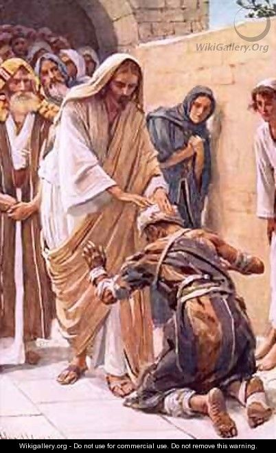 The healing of the leper - Harold Copping
