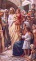 The lord blessing the children - Harold Copping