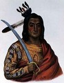 Mou Ka Ush Ka or The Trembling Earth a Yankton Sioux Chief - (after) Cooke, George