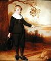 Portrait of a Seven year old Boy in a River Landscape - Jan Damen Cool