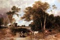 Wooded River Landscape - T.S. and Lee, F.R. Cooper