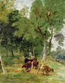 Cattle on a Devonshire Lane - T.S. and Lee, F.R. Cooper