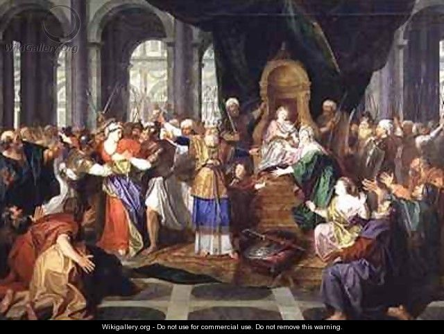 Athaliah Expelled from the Temple by Antoine Coypel
