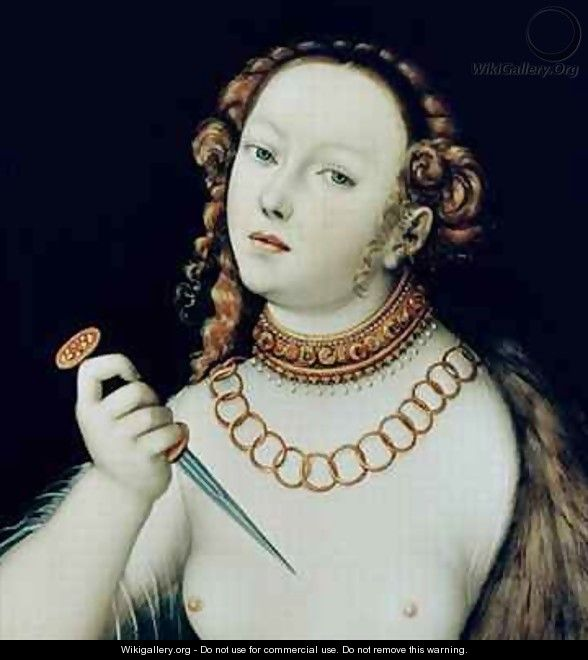 The Suicide of Lucretia - Lucas The Elder Cranach