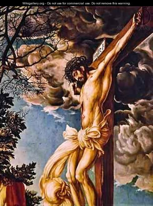 Detail of The Crucifixion - Lucas The Elder Cranach