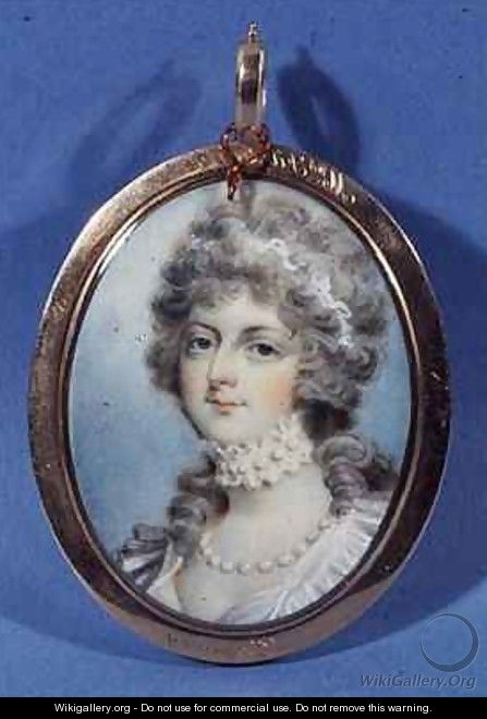 Portrait of Mrs Fitzherbert - (after) Cosway, Richard