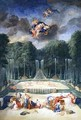 The Groves of Versailles View of the Theatre of Water with Nymphs waiting to receive Psyche - Jean II Cotelle