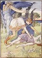 The wind god sent a gust from the south - Walter Crane