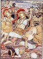 They Crashed into the Persian Army with Tremendous Force - Walter Crane